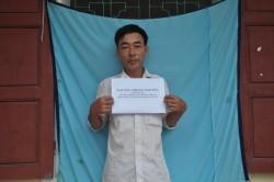 Đối tượng Nguyễn Trọng Nguyên tại cơ quan điều tra (ảnh cơ quan điều tra cung cấp).