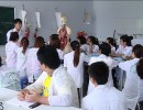 Buổi học thực hành của lớp điều dưỡng Trường Cao đẳng Asean.