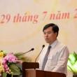 Vụ trưởng Vụ Tổ chức-Cán bộ Nguyễn Mạnh Hùng trình bày tham luật tại Đại hội Ảnh: Đình Nam