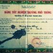 """Bằng tốt nghiệp ghi tên ông Hoàng Văn Công được ông Hoàng Văn Đồng (em rể ông Công) """"phù phép"""" thành bằng của mình. Ảnh: TUẤN MINH"""