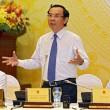 Chủ nhiệm Văn phòng Chính phủ Nguyễn Văn Nên trả lời báo chí trong cuộc họp báo - Ảnh: Việt Dũng