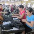 Công việc tại Xí nghiệp Giày da mang lại nguồn thu ổn định cho bà con Phù Yên với mức thu nhập 40 triệu đồng/người/năm. Ảnh: K.T
