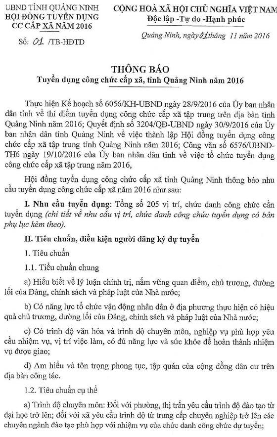 Thong bao tuyen dung cong chuc cap xa tap trung tinh Quang Ninh nam 2016-page-001