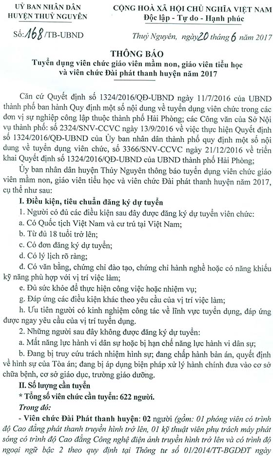 TB 168 tuyen dung vien chuc-1