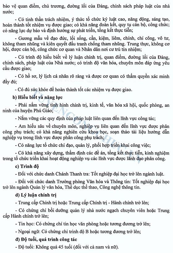 Thong bao Thi tuyen chuc danh Chanh Thanh tra,Truong phong VHTT huyen PG-2