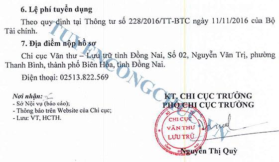 58-Chi cuc VTLT thong bao tuyen dung vien chuc-2018-2