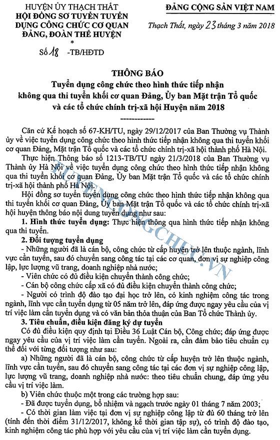 18 Tb cua Hoi dong tuyen dung CC tiep nhan khong qua thi tuyen cua co quan dang, doan the huyen 2018-1