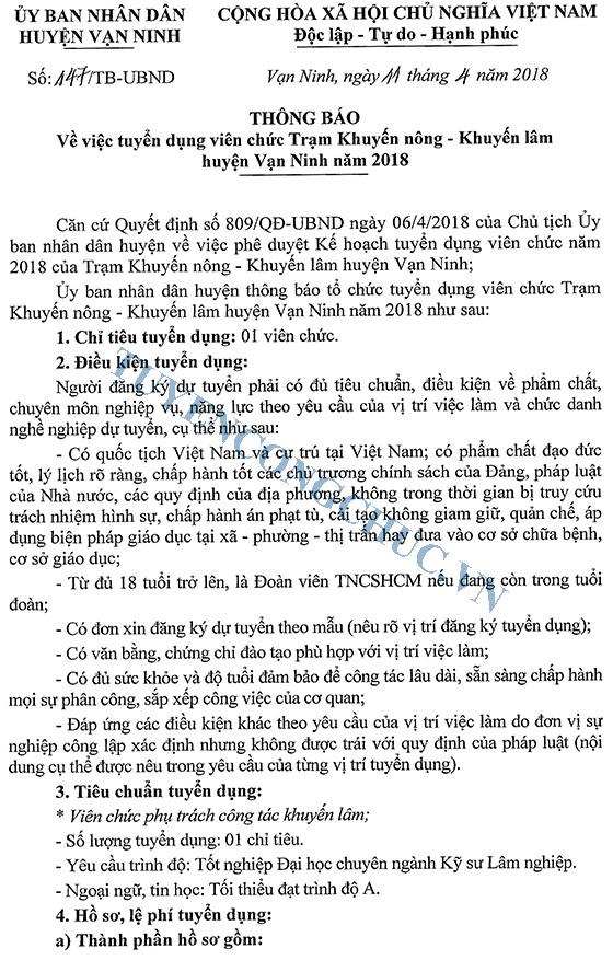 180411 Thong bao tuyen dung vien chuc TB 147-1