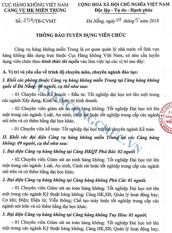 254-TB-CVMT Thong bao tuyen dung vien chuc-1