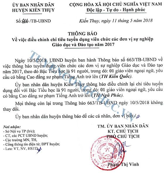 Thong bao 666 dieu chinh chi tieu tuyen VC giao duc