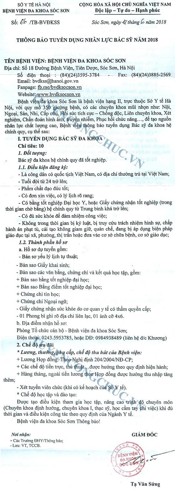 BVĐK Sóc Sơn-1
