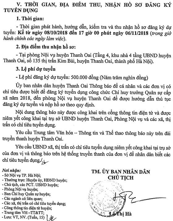 2018-TB-UBND-662-TB chỉ tiêu, điều kiện tuyển dụng Chỉ huy trưởng quân sự cấp xã thuộc huyện Thanh Oai năm 2018-3
