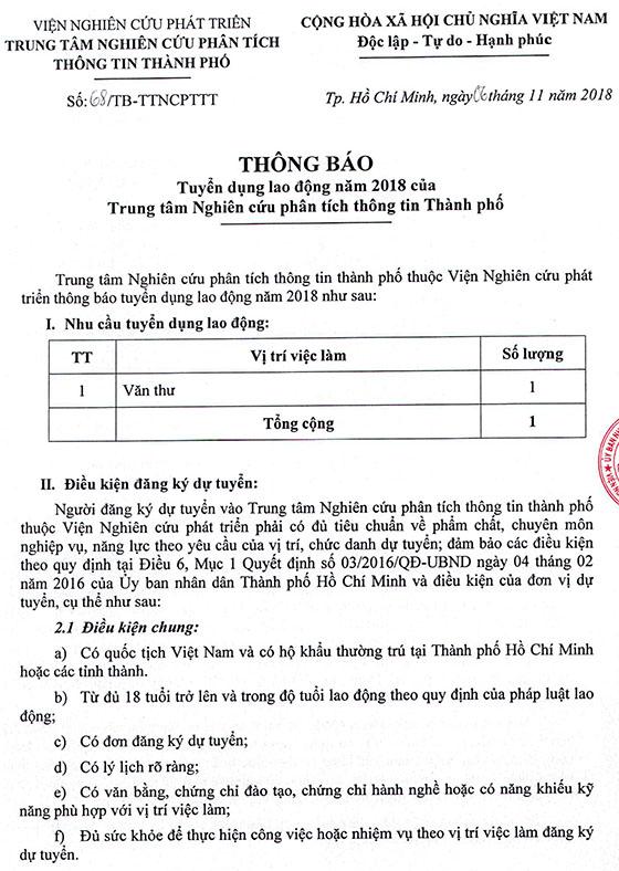 2018-11-06 TB-68 VE TUYEN DUNG LAO DONG NAM 2018 CUA TTNCPTTT TP-1