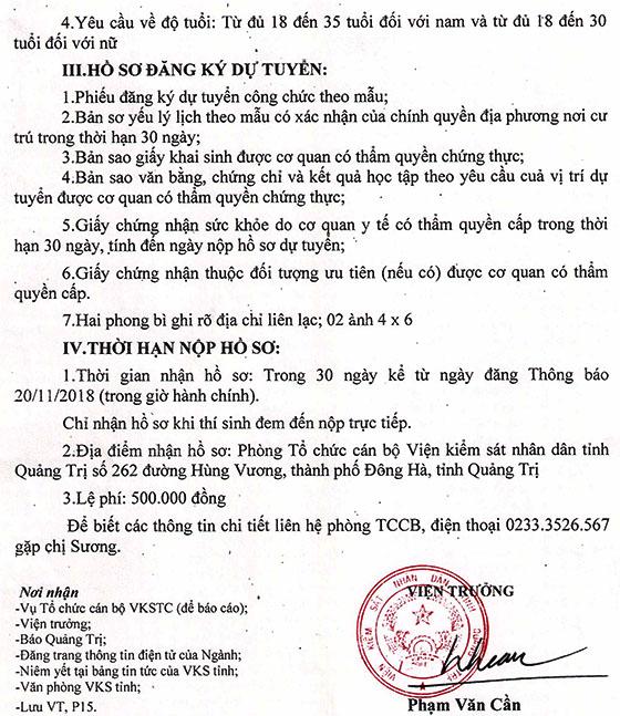 Số 1670 TB VKS P15 ngày 201