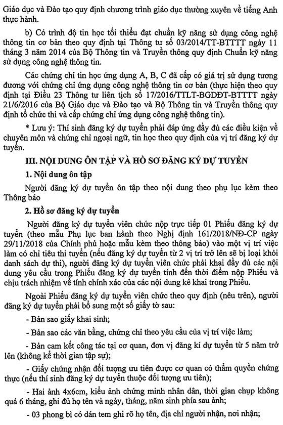 UBND huyện Cao Phong, Hòa Bình tuyển viên chức ngành giáo dục năm 2019