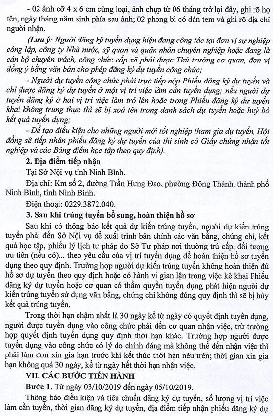 UBND tỉnh Ninh Bình tuyển dụng công chức tỉnh năm 2019