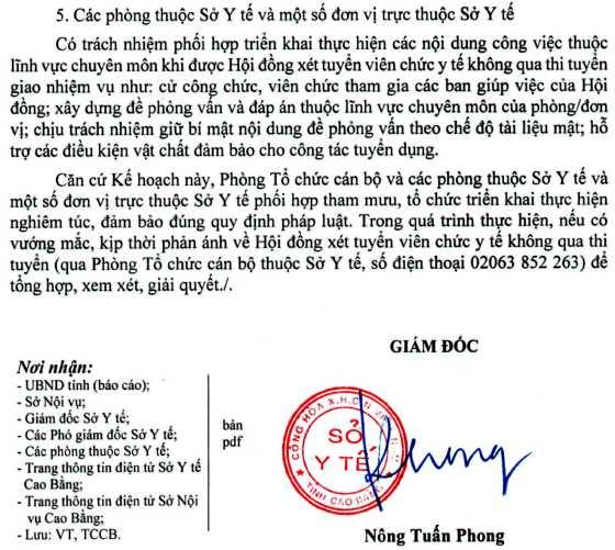 Sở Y tế tỉnh Cao Bằng tuyển dụng viên chức năm 2019