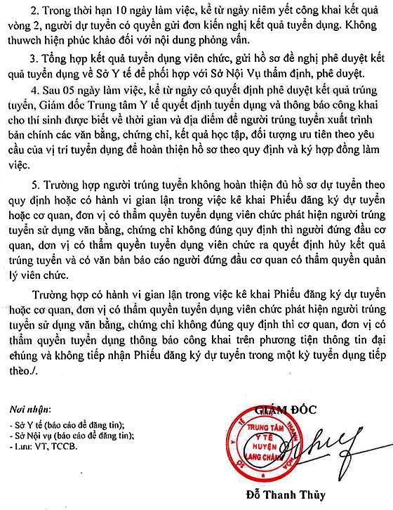Trung tâm Y tế huyện Lang Chánh, Thanh Hóa tuyển dụng viên chức năm 2019