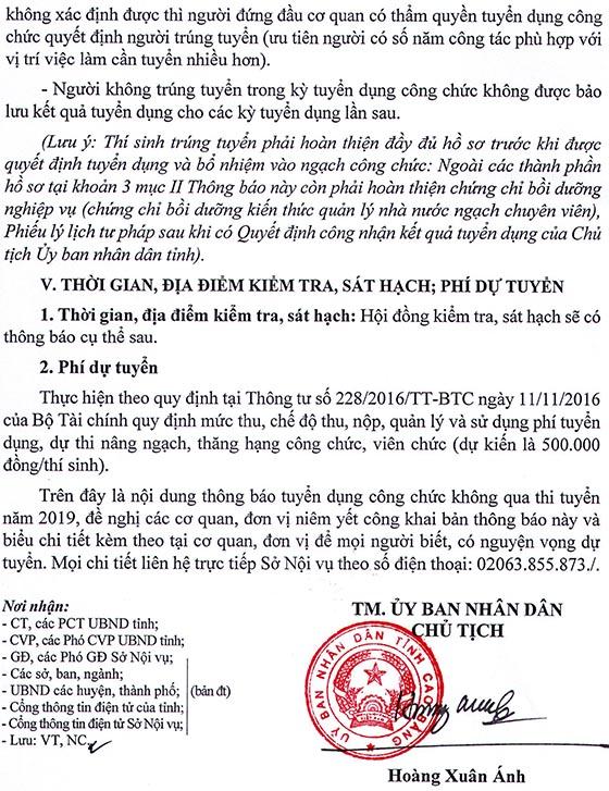 UBND tỉnh Cao Bằng tuyển dụng công chức năm 2019
