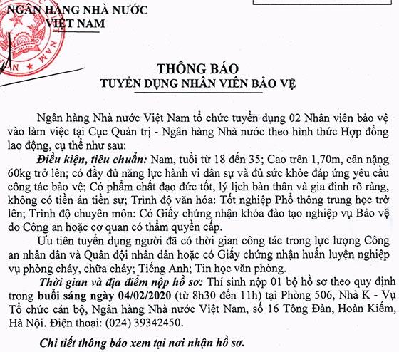 ngan-hang-nha-nuoc-tuyen-dung-nhan-vien-bao-ve-nam-2020