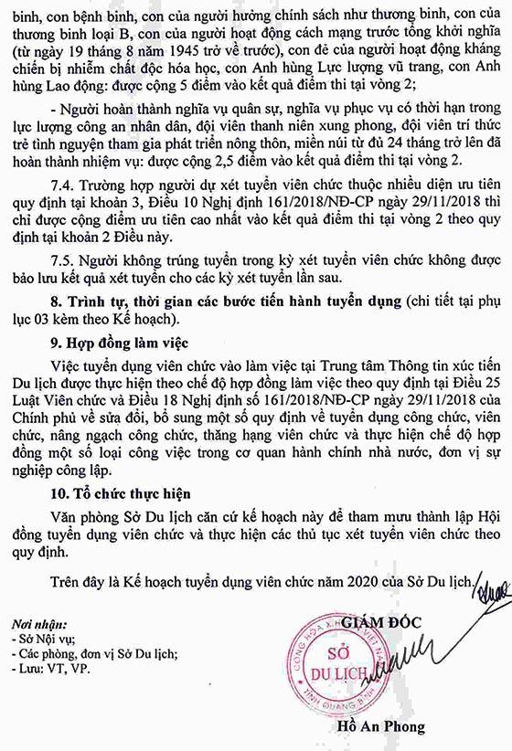 Sở Du lịch tỉnh Quảng Bình tuyển dụng viên chức năm 2020