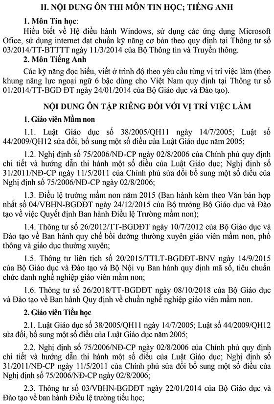 UBND huyện Cao Phong, Hòa Bình tuyển dụng giáo viên năm 2020