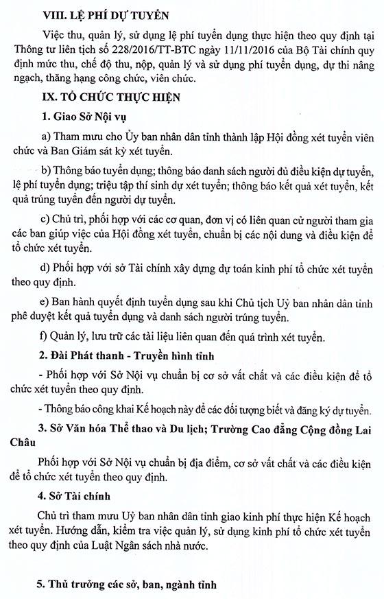 UBND tỉnh Lai Châu xét tuyển viên chức năm 2020