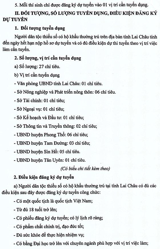 UBND tỉnh Lai Châu thi tuyển công chức năm 2020