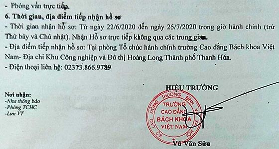 Trường Cao đẳng Bách khoa Việt Nam tuyển dụng viên chức năm 2020