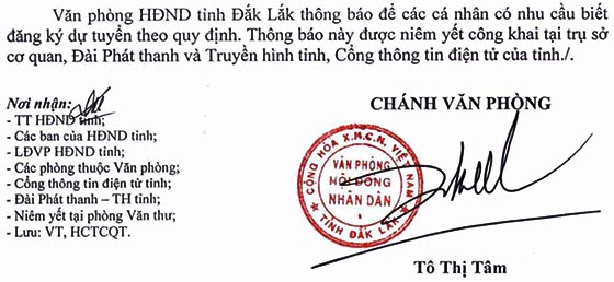 Văn phòng HĐND tỉnh Đắk Lắk tuyển dụng công chức năm 2020