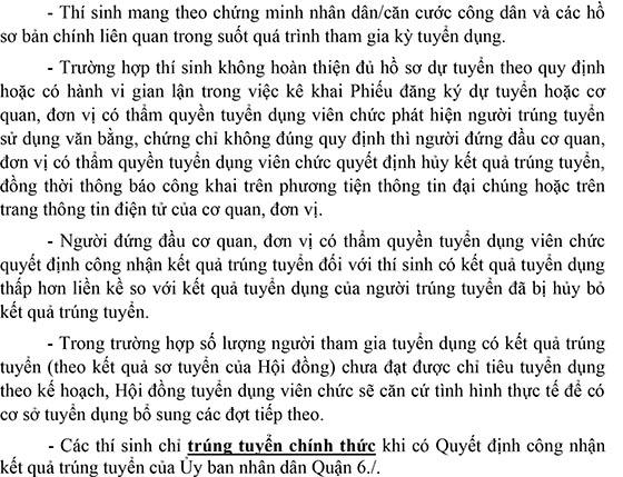 Trường Tiểu học Nguyễn Huệ, Quận 6, TP.HCM tuyển dụng viên chức năm 2020 (Đợt 1)