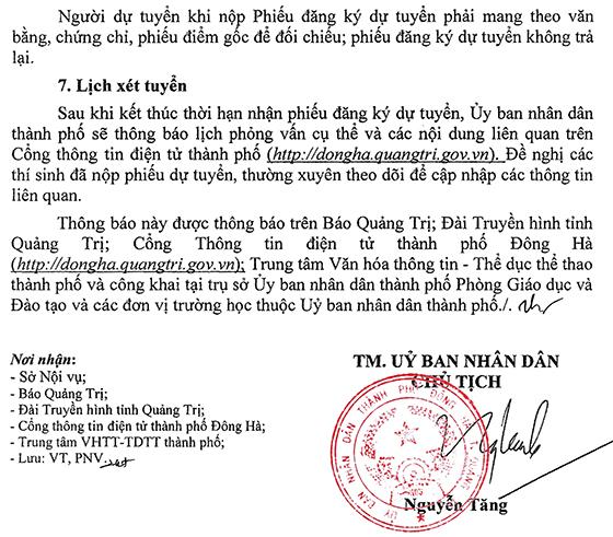 UBND TP.Đông Hà, Quảng Trị tuyển dụng giáo viên năm 2021