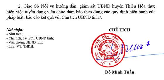 TT dịch vụ nông nghiệp huyện Thiệu Hóa, Thanh Hóa tuyển dụng viên chức năm 2021