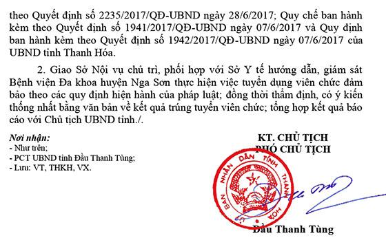 Bệnh viện đa khoa huyện Nga Sơn, Thanh Hóa tuyển dụng viên chức năm 2021