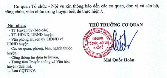 Cơ quan Tổ chức - Nội vụ huyện Cô Tô, Quảng Ninh tuyển dụng Phó Hiệu trưởng các trường học năm 2021