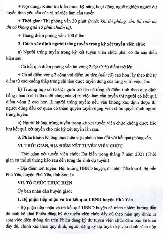 UBND huyện Phù Yên, Sơn La tuyển dụng giáo viên và nhân viên trường học năm 2021