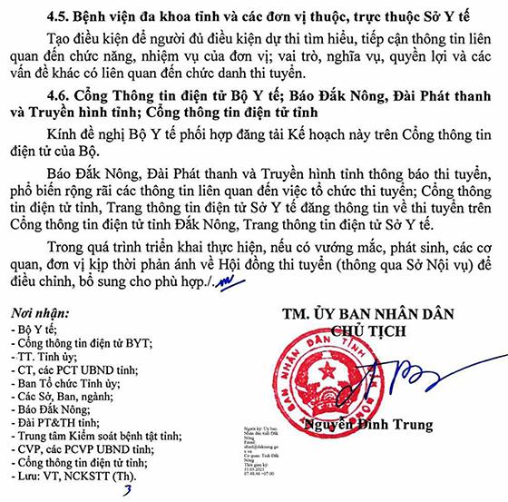 UBND tỉnh Đắk Nông tuyển dụng chức danh Giám đốc Bệnh viện đa khoa tỉnh năm 2021