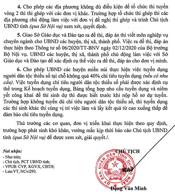 UBND tỉnh Quảng Ngãi tuyển dụng giáo viên năm 2021