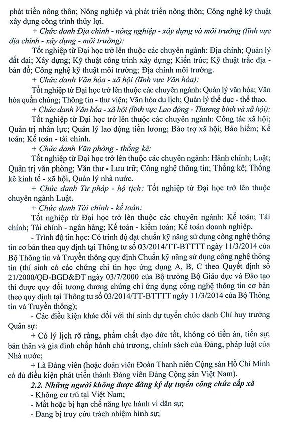 UBND huyện Lục Yên, Yên Bái tuyển dụng công chức cấp xã năm 2021