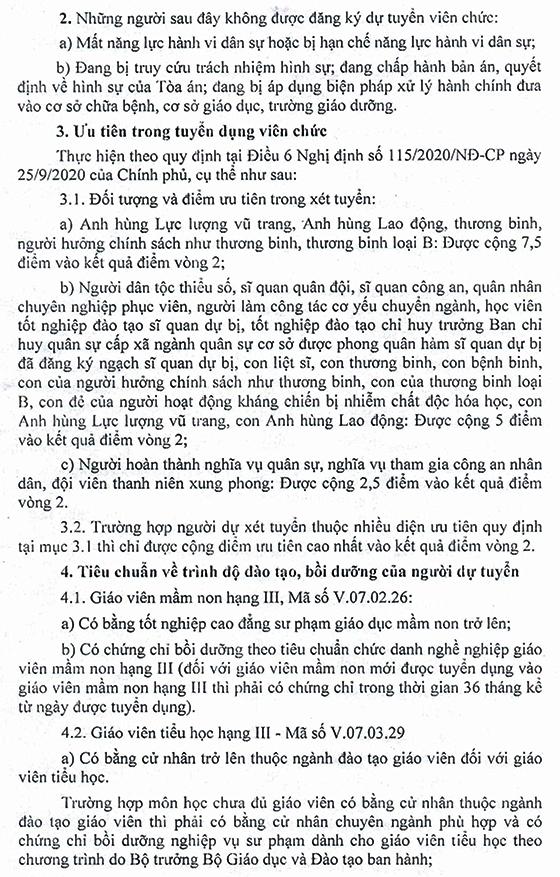 UBND huyện Quỳnh Nhai, Sơn La tuyển dụng viên chức sự nghiệp giáo dục năm 2021