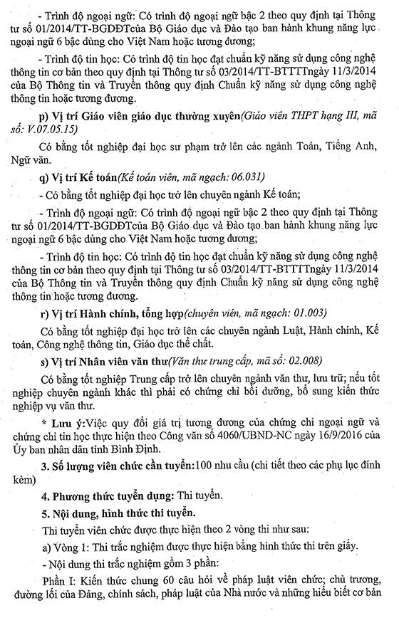 UBND huyện Hoài Ân, Bình Định tuyển dụng viên chức năm 2021
